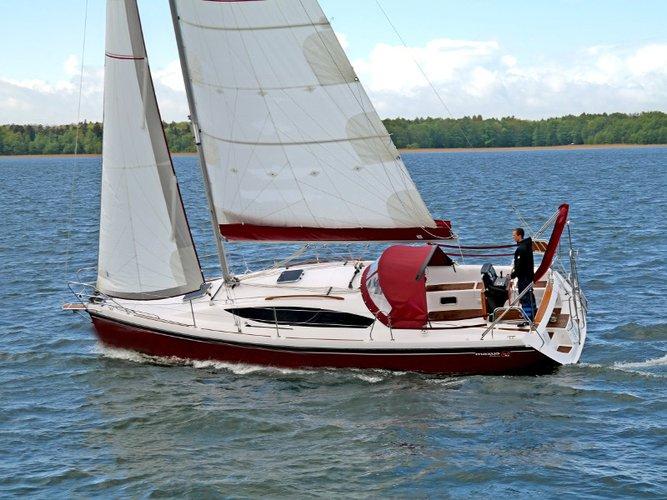 Rent this Northman Shipyard Maxus 33.1 RS Prestige + for a true nautical adventure