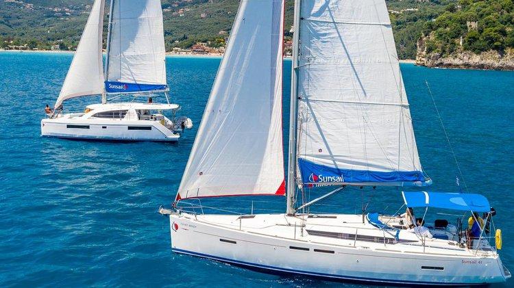 Monohull boat rental in Corfu, Gouvia Marina, Greece
