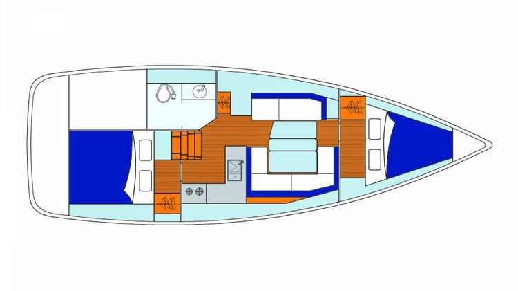 Boat for rent Custom 34.0 feet in Marina Agana, Croatia