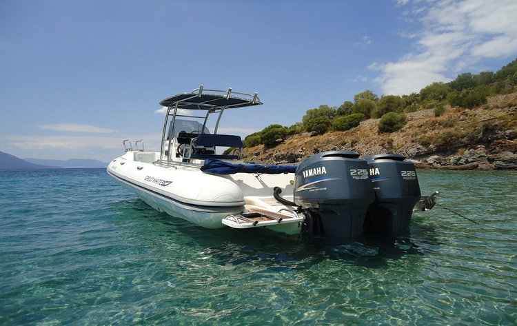 Rigid inflatable boat for rent in