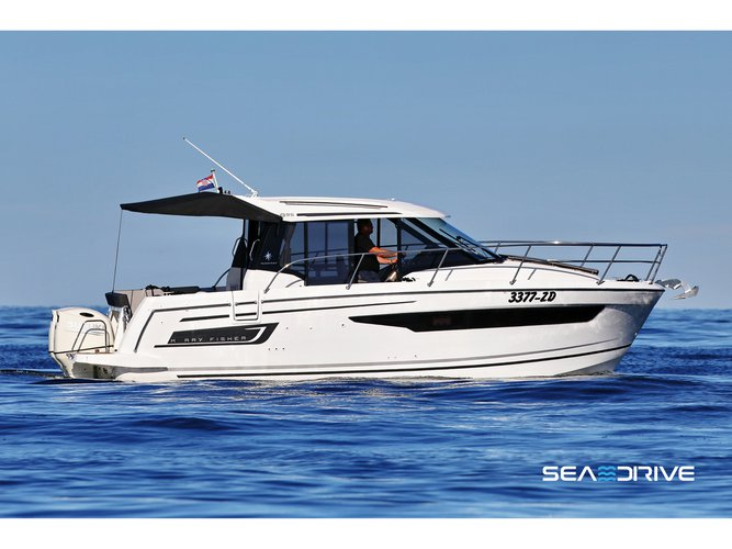 Enjoy luxury and comfort on this Zadar motor boat charter