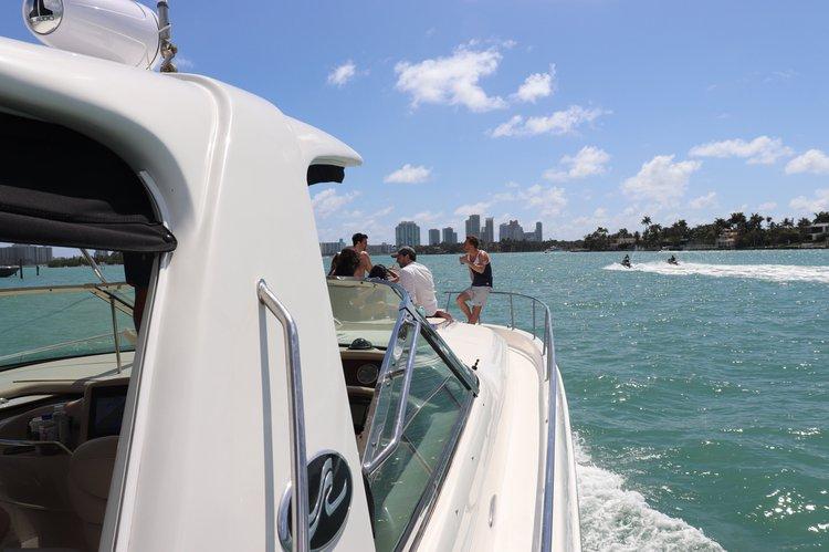 Express cruiser boat rental in South Beach, FL