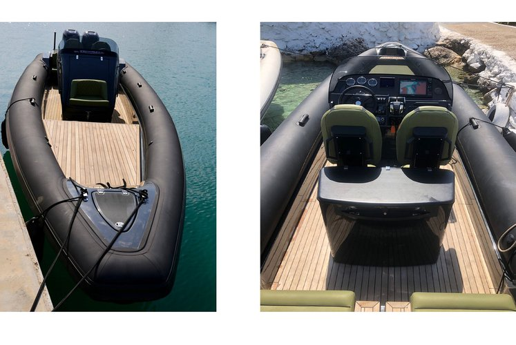 Up to 10 persons can enjoy a ride on this Rigid inflatable boat