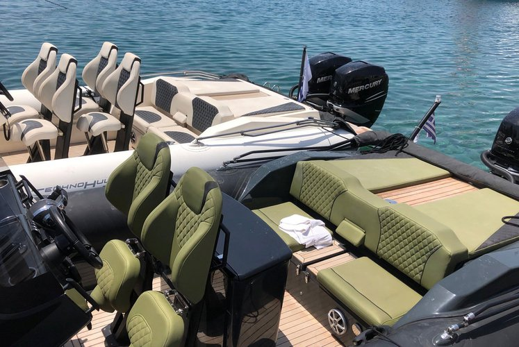 Rigid inflatable boat rental in Agios Kosmas Marina, Greece