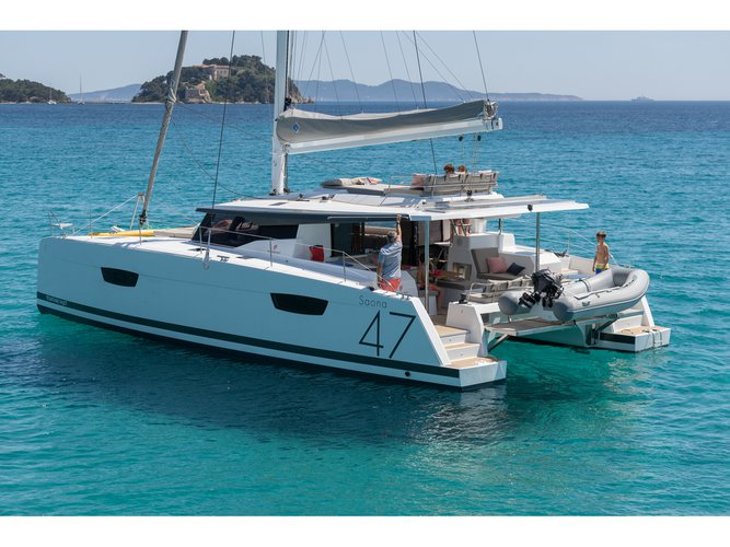 Hop aboard this amazing sailboat rental in Pilos!