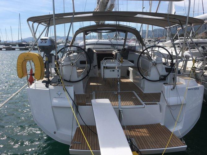 Rent this Jeanneau Sun Odyssey 519 5+1cab. for a true nautical adventure