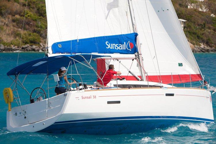Enjoy luxury and comfort on this Marina Agana sail boat rental