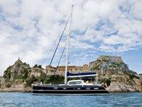 Sail Corfu, GR waters on a beautiful Alliaura Marine Privilege Privilege 585