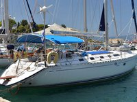 Get on the water and enjoy Corfu in style on our Dufour Yachts Dufour 454 Classic