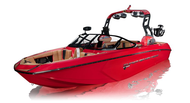 Up to 6 persons can enjoy a ride on this Deck boat boat
