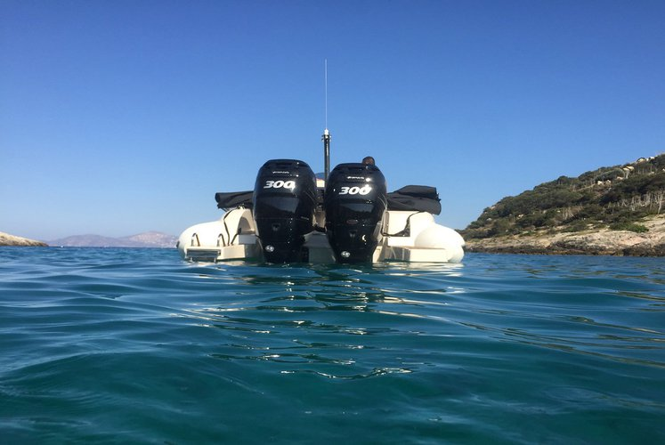 Boating is fun with a Rigid inflatable in Porto Cheli