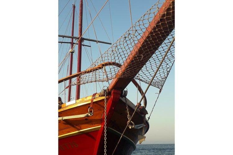Classic boat rental in Larnaca Marina, Cyprus