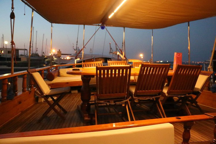Classic boat for rent in Larnaca