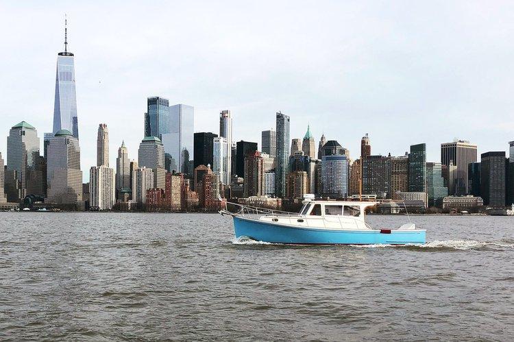 Classic Picnic Yacht in New York Harbor