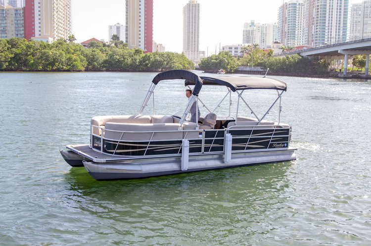 24 Ft Bentley Pontoon Party Boat for rent in Miami - best price!