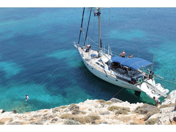 Relax on board our sailboat charter in Syros
