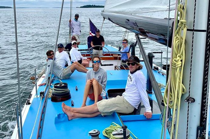 Boating is fun with a Sloop in Newport