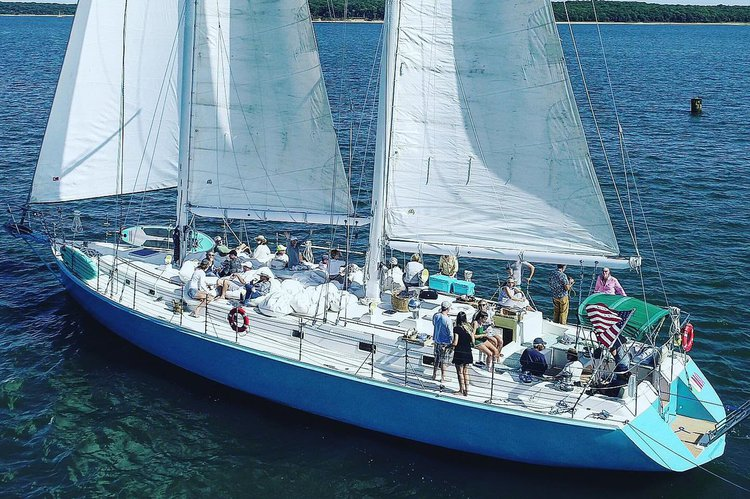 Delightful Private Luxury Sailing on a 74-foot Schooner for all size groups and all ocasion.