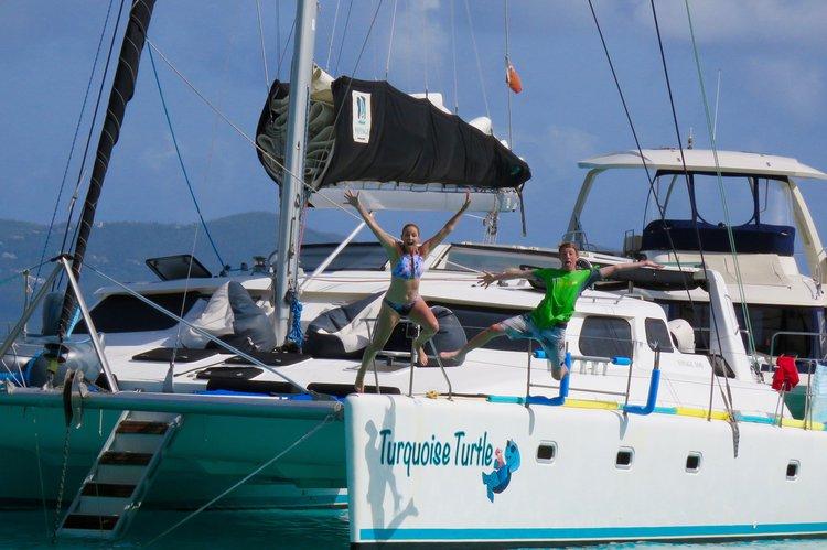 Hop on this beautiful catamaran and enjoy the beautiful St Martin