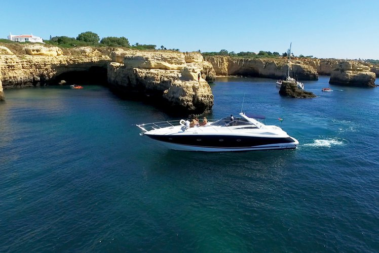 Discover Vilamoura surroundings on this Portofino Sunseeker boat