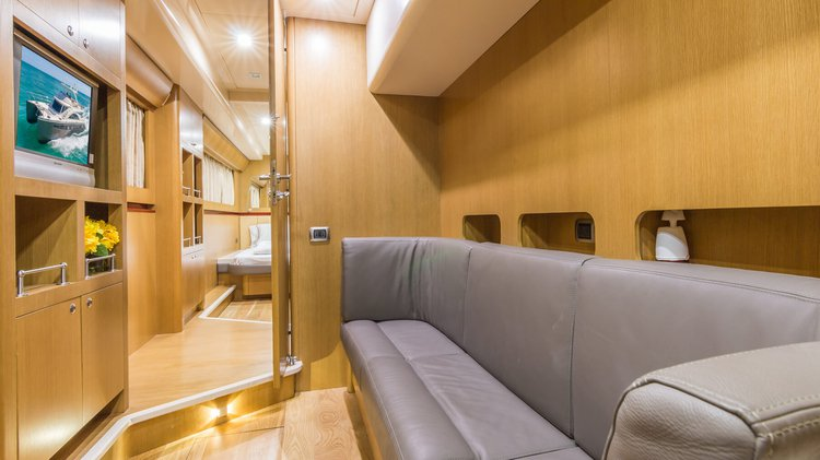 Discover Miami surroundings on this F62 Cat boat
