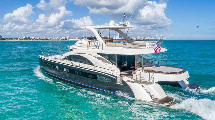 Catamaran boat rental in The Wharf Miami,