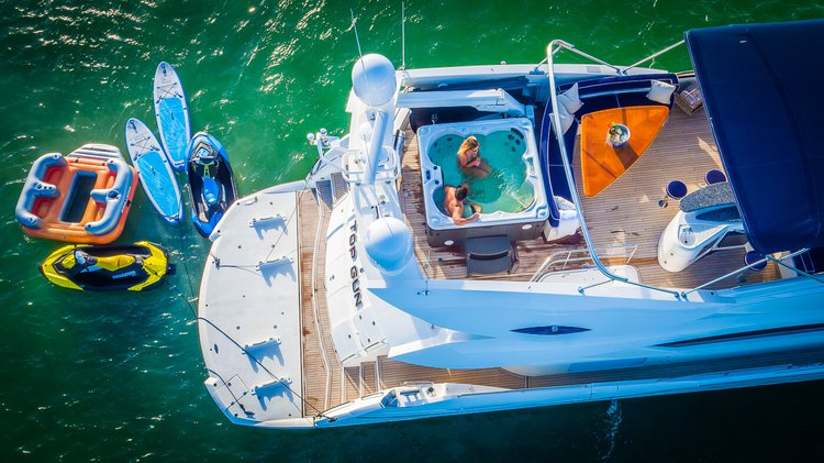 Miami's Finest Yacht with a jacuzzi - 82' Sunseeker