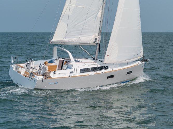 Charter this amazing Beneteau Oceanis 38 in Portisco, IT