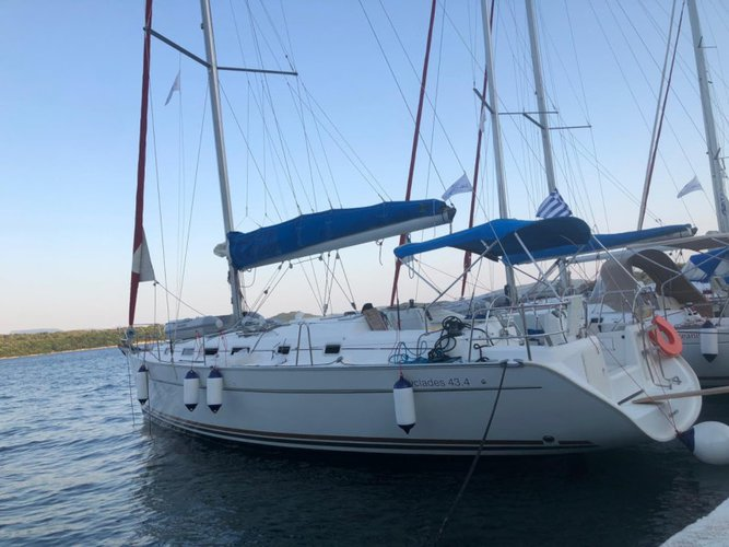 Experience Corfu, GR on board this amazing Beneteau BENETEAU  Cyclades 43.4 2008/REFIT 2019