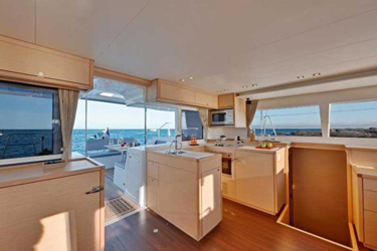 Up to 11 persons can enjoy a ride on this Catamaran boat