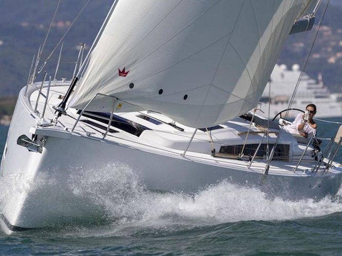 Get on the water and enjoy Paros in style on our Dufour Yachts Dufour 430 Grand Large