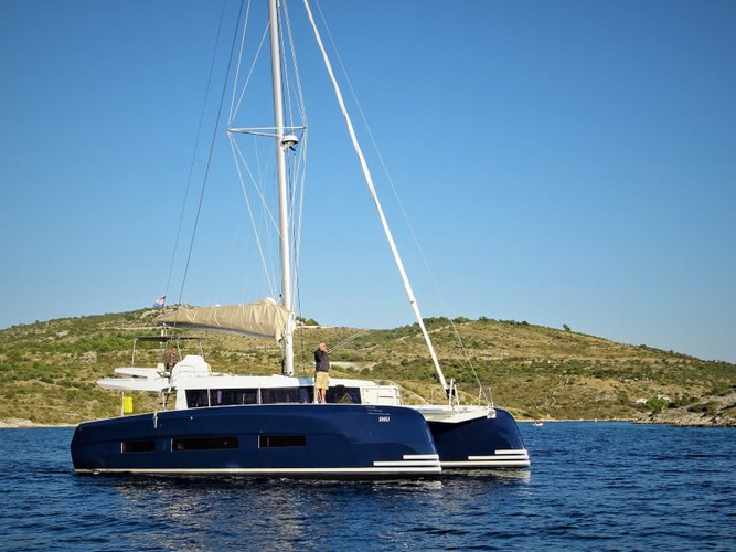 Sail the beautiful waters of Dubrovnik on this cozy Dufour Yachts Dufour 48 Catamaran