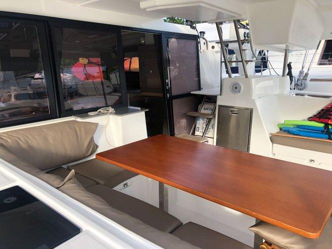 Catamaran boat for rent in Scrub Island