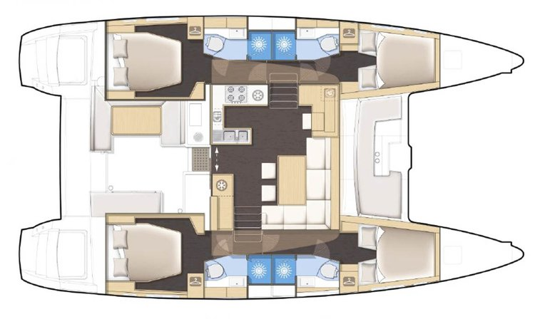 Discover Florida  in style boating on this 45 ft catamaran rental