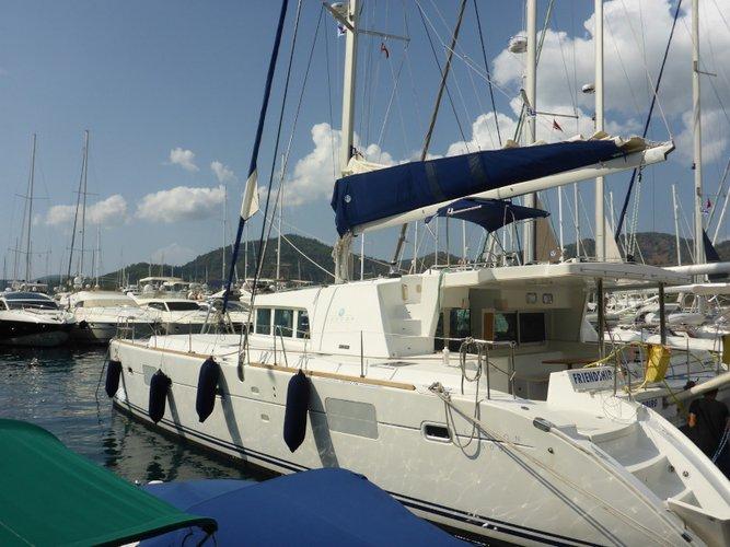 Sail San Vincenzo, IT waters on a beautiful Lagoon Lagoon 500 Flybridge