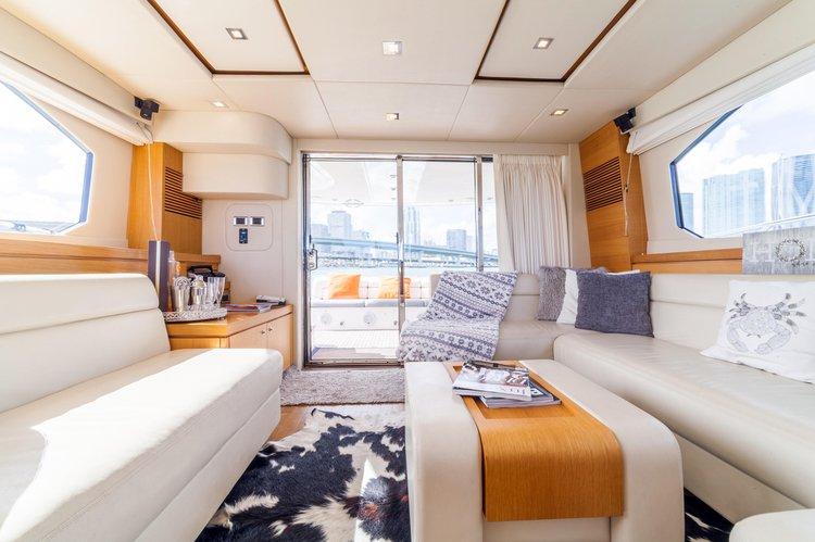 Motor yacht boat rental in miami marina at bayside, FL
