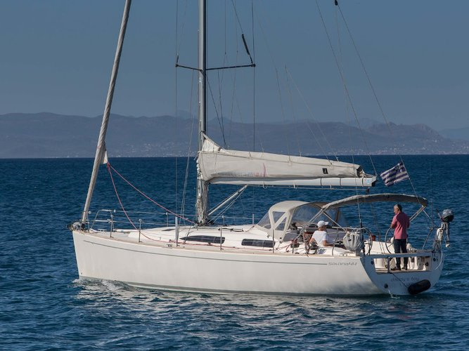 Sail the beautiful waters of Paros on this cozy AD Boats Salona 44 Performance