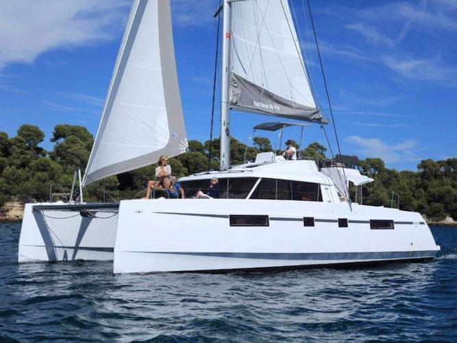 Rent this Catamarans Nautitech Nautitech 46 Fly for a true nautical adventure