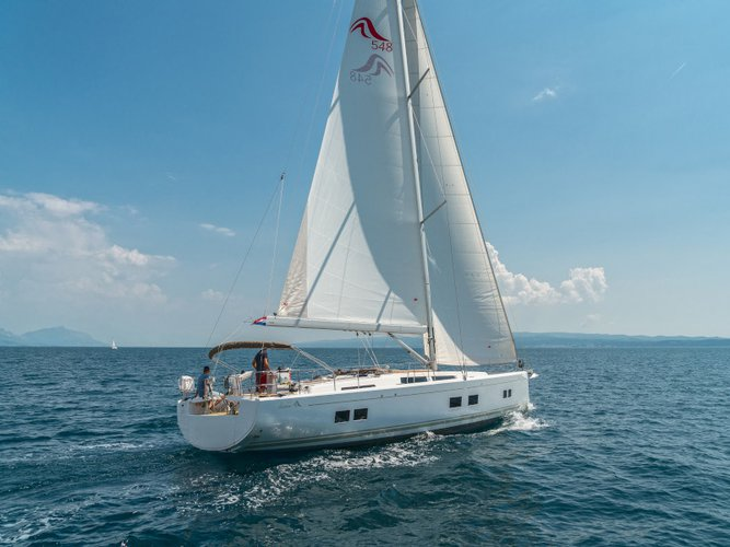 Enjoy Seget Donji, HR to the fullest on our comfortable Hanse Yachts Hanse 548