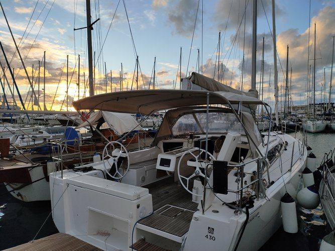 All you need to do is relax and have fun aboard the Dufour Yachts Dufour 430 Grand Large