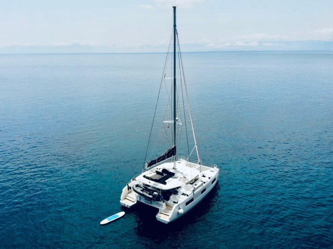 Enjoy luxury and comfort on this Castellammare di Stabia sailboat charter