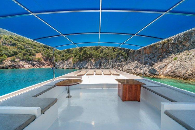 Discover Fethiye surroundings on this CUSTOM GULET WOODEN boat