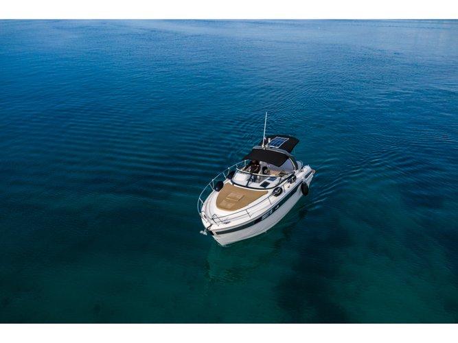 Experience Tribunj on board this elegant motor boat