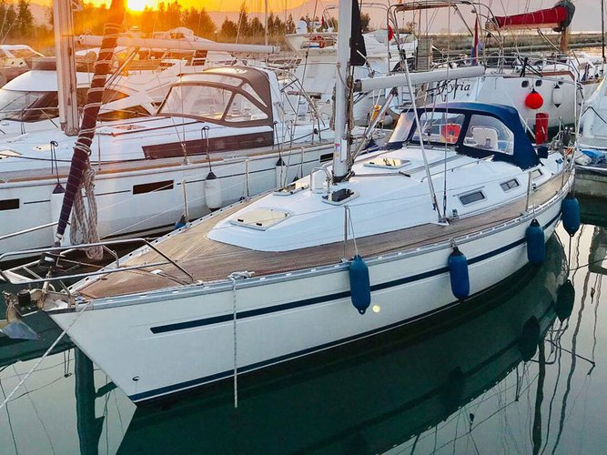 Experience Vlora on board this elegant sailboat