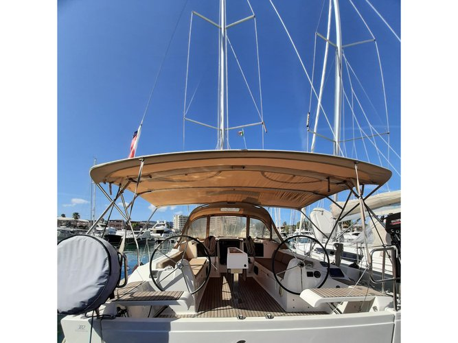 Sail Balestrate (PA), IT waters on a beautiful Dufour Yachts Dufour 382 Grand Large Notus 2016