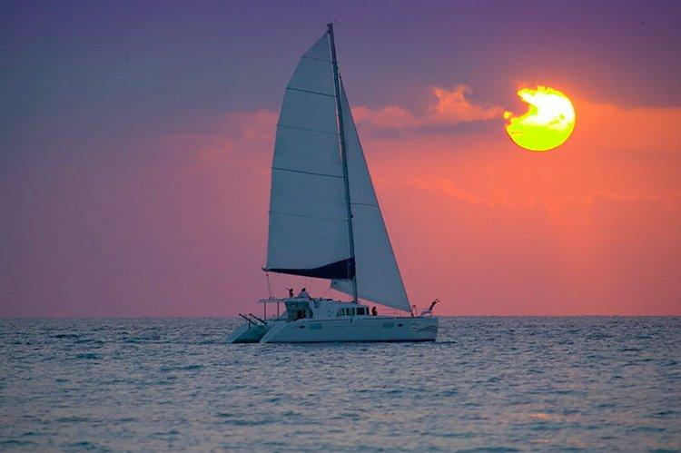 Romantic Janise Sailing Sunset Charter