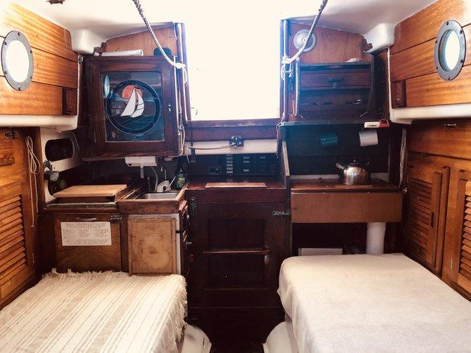 Boat for rent Pearson 28.5 feet in marina Cortez la paz BCS, Mexico
