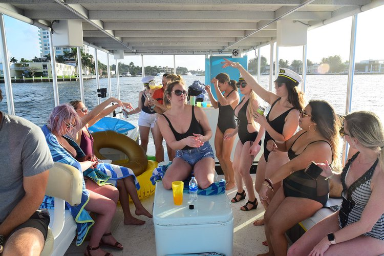 Pontoon boat rental in Bahia Mar Beach Resort and Yachting Center, FL