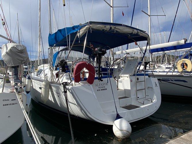 Enjoy luxury and comfort on this Beneteau Oceanis 43.4 in Fethiye