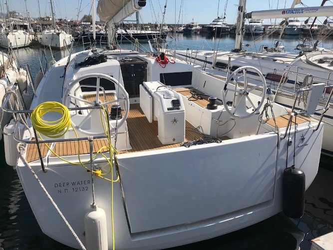 Charter this amazing Jeanneau Sun Odyssey 440 in Kos, GR